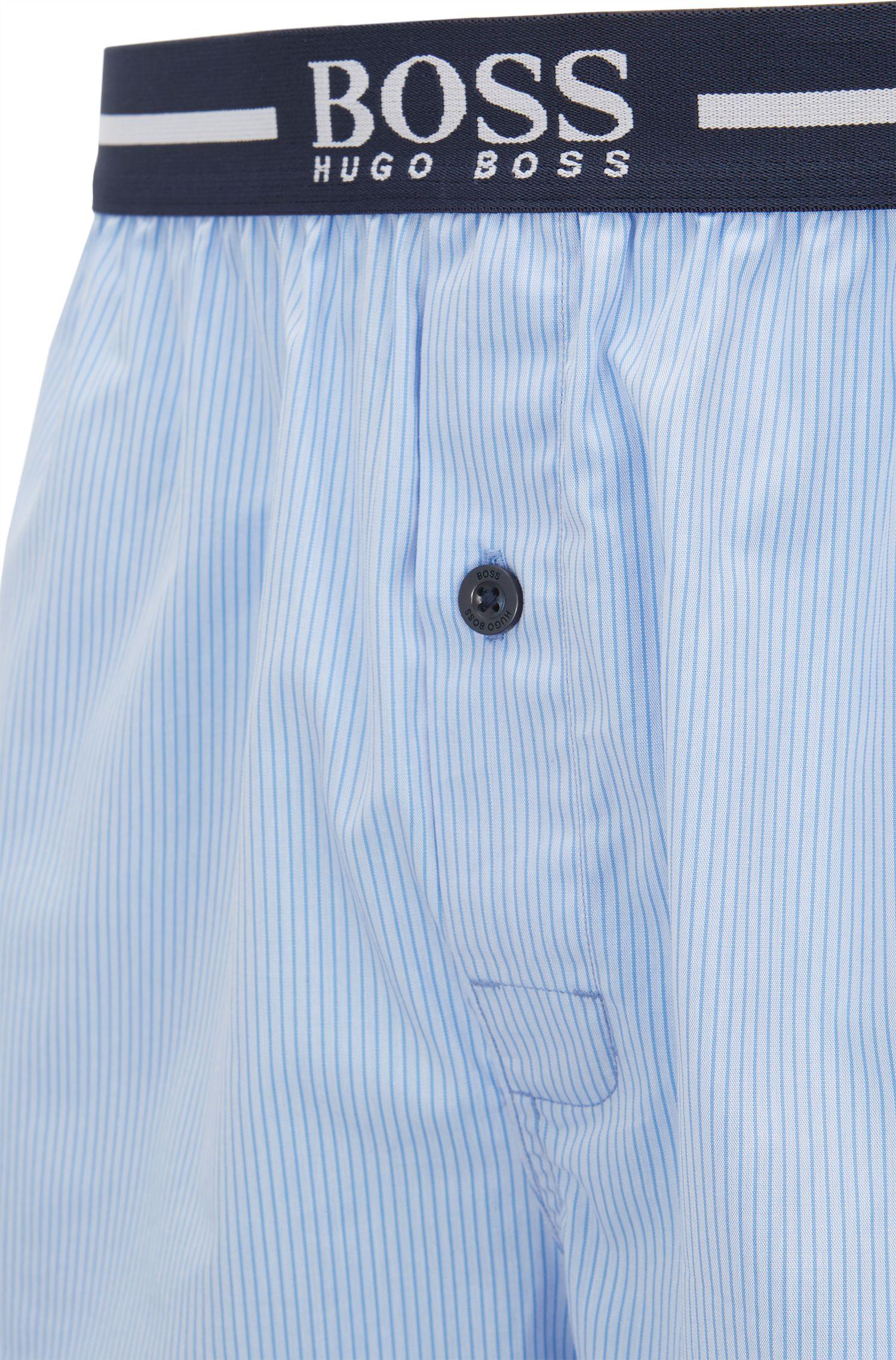 Pyjama-Shorts aus Baumwoll-Popeline im Zweier-Pack, Hellblau