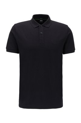 Regular-fit polo shirt in a Pima-cotton blend, Black