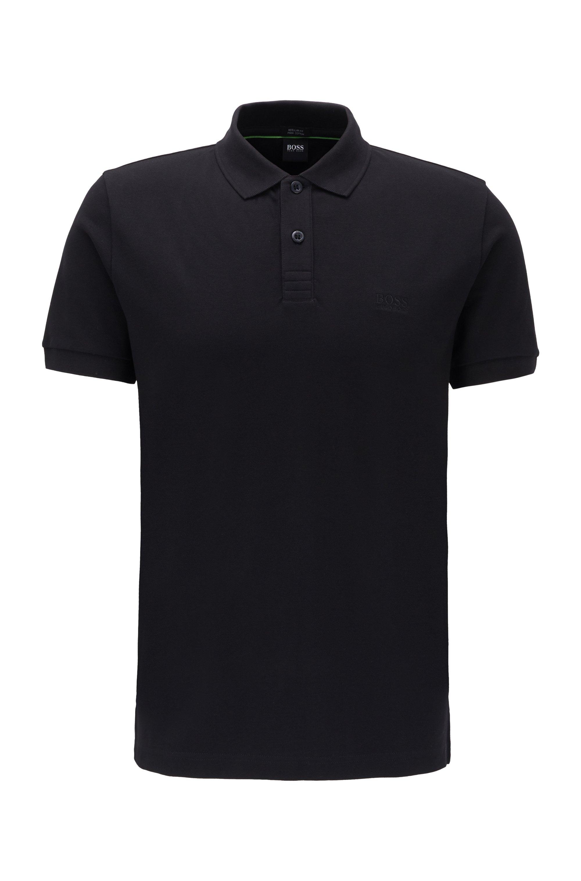 Poloshirt aus Pima-Baumwolle, Schwarz