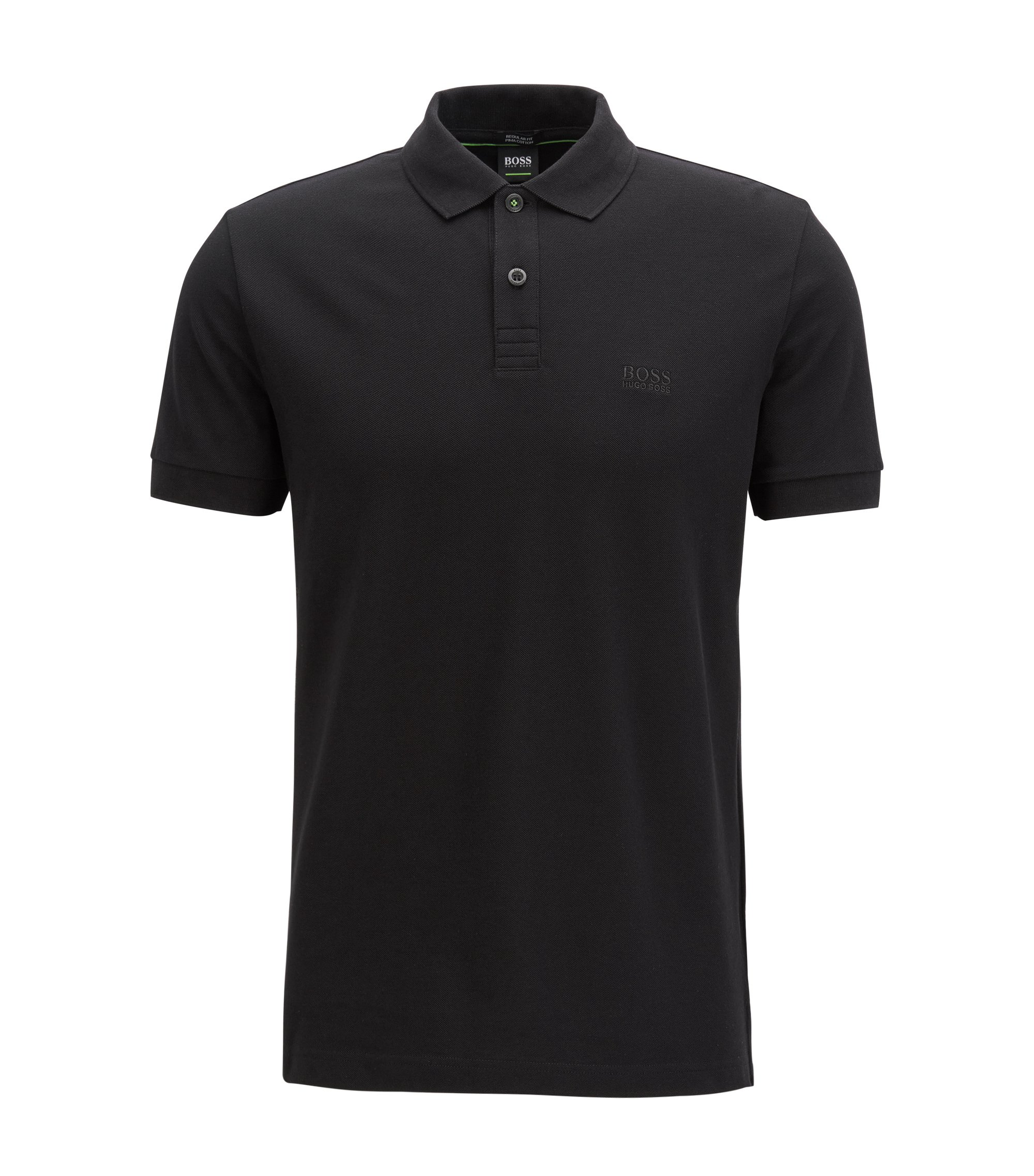 Polo shirt in Pima cotton, Black