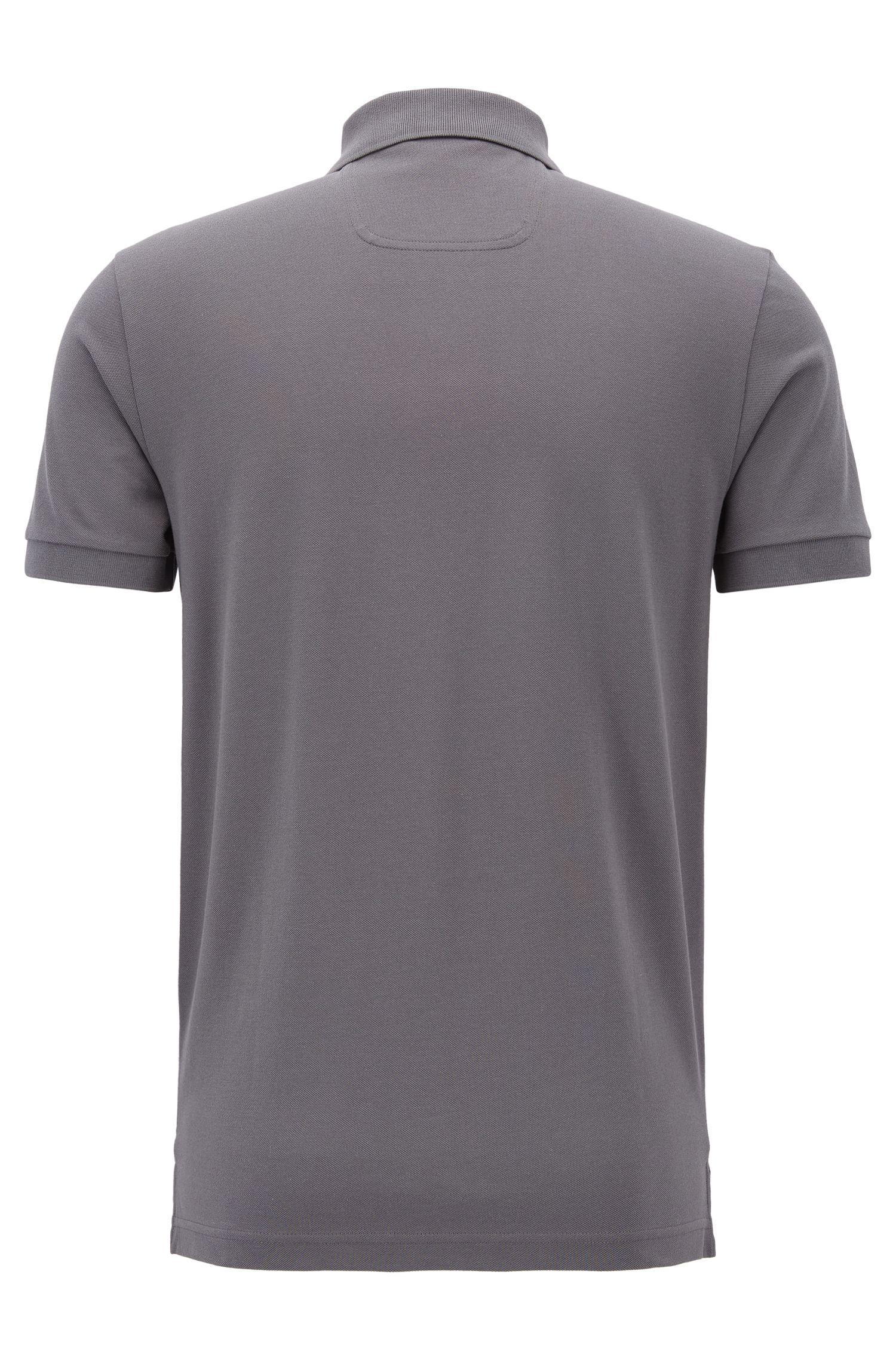 Poloshirt aus Pima-Baumwolle, Anthrazit