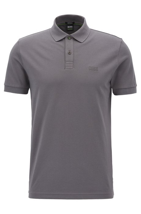 Regular-fit polo shirt in Pima-cotton piqué, Anthracite