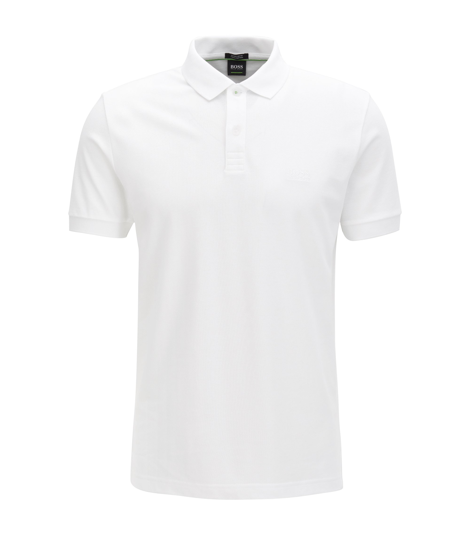 Polo shirt in Pima cotton, White