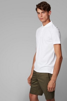 Regular-fit polo shirt in a Pima-cotton blend, White