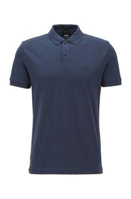 Regular-fit polo shirt in a Pima-cotton blend, Dark Blue