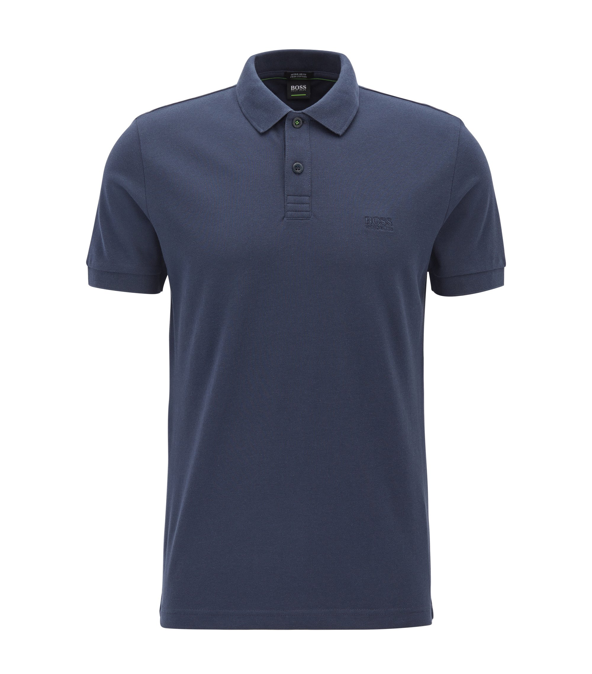 Polo in cotone Pima, Blu scuro