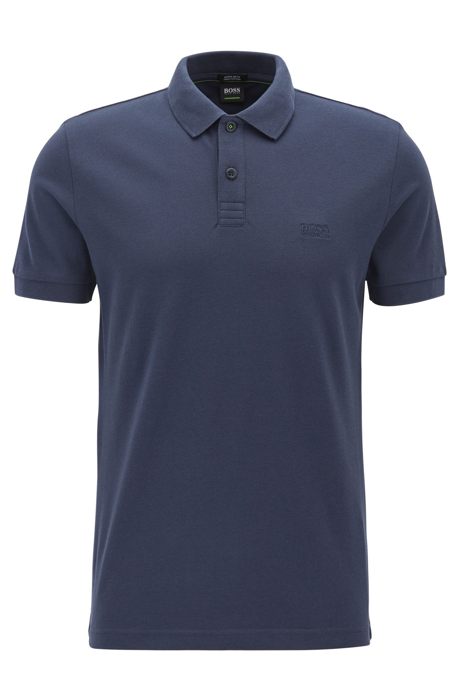 Polo shirt in Pima cotton, Dark Blue