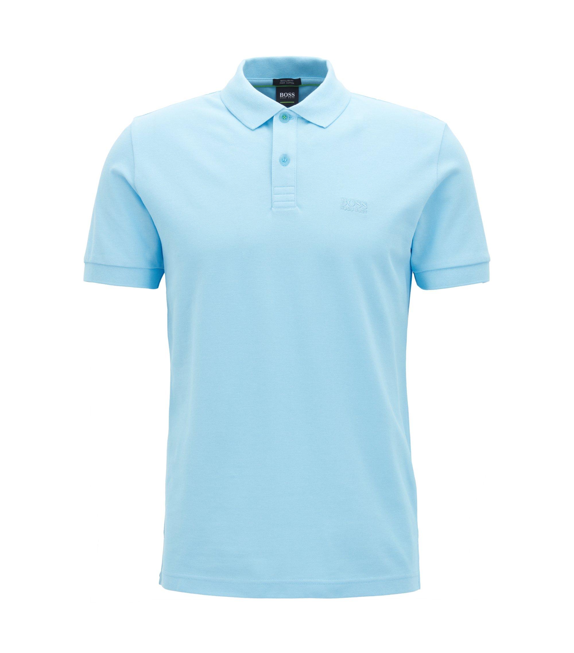 Poloshirt aus Pima-Baumwolle, Hellblau