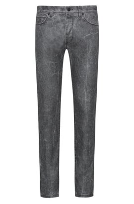 Skinny-fit jeans in stretch denim with textured effect HUGO BOSS BWwzRL