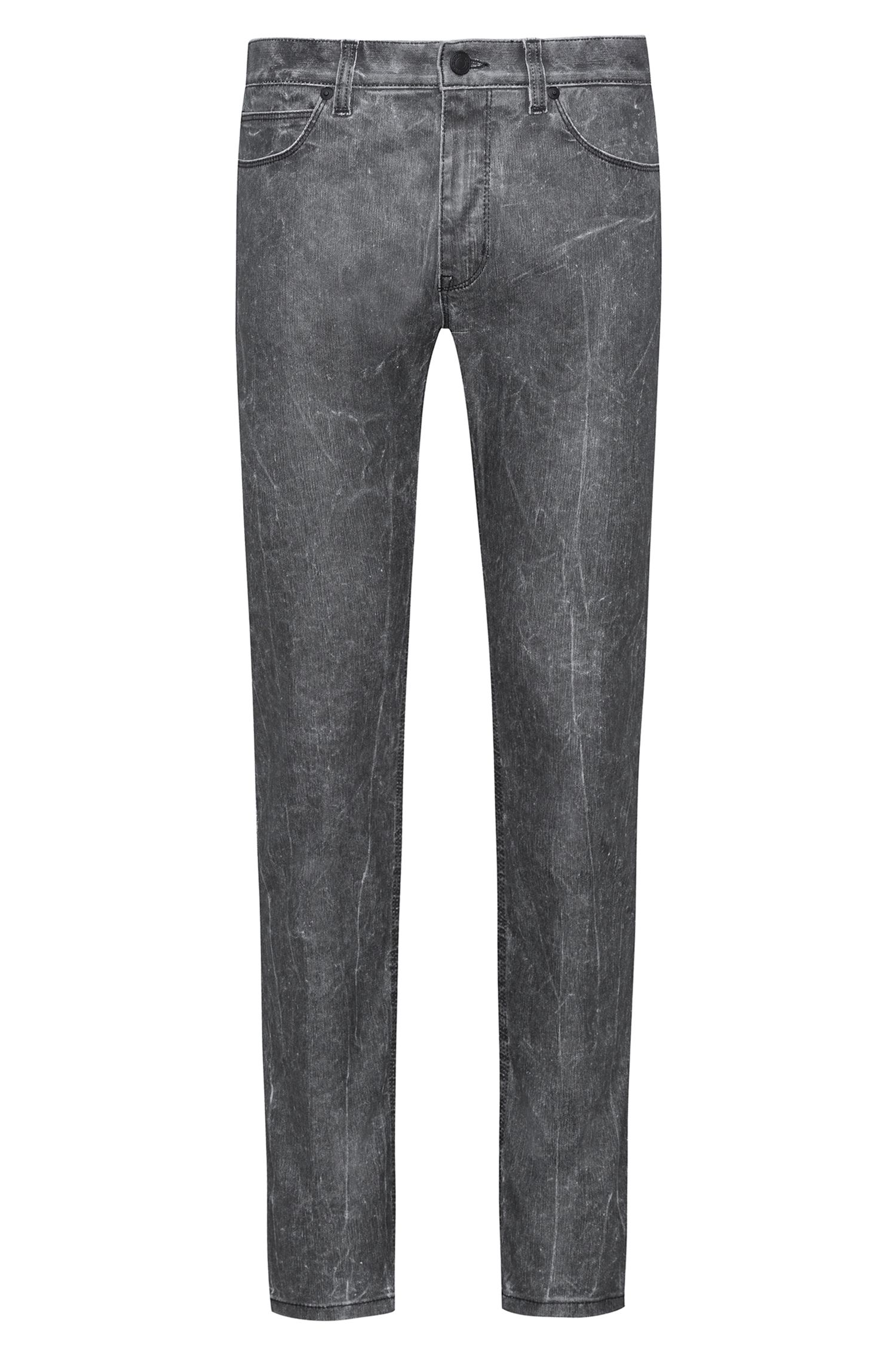 Skinny-fit jeans in stretch denim with textured effect