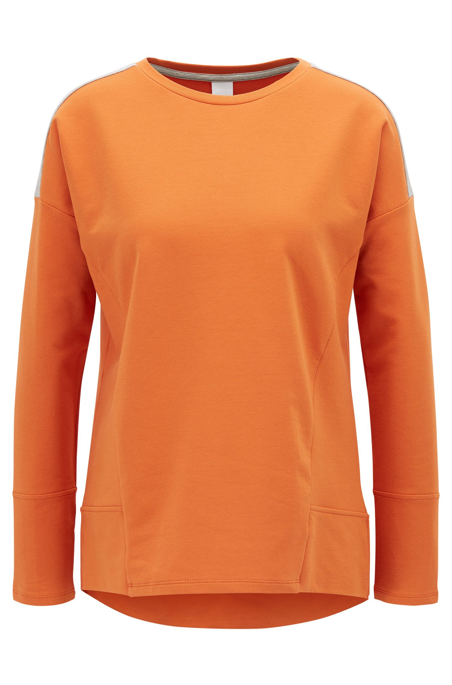 Pullover aus Stretch-Baumwolle mit überschnittener Schulter