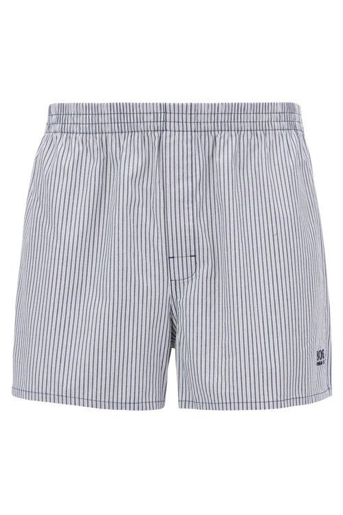 Hugo Boss - Two-pack of pyjama shorts in pure cotton poplin - 1