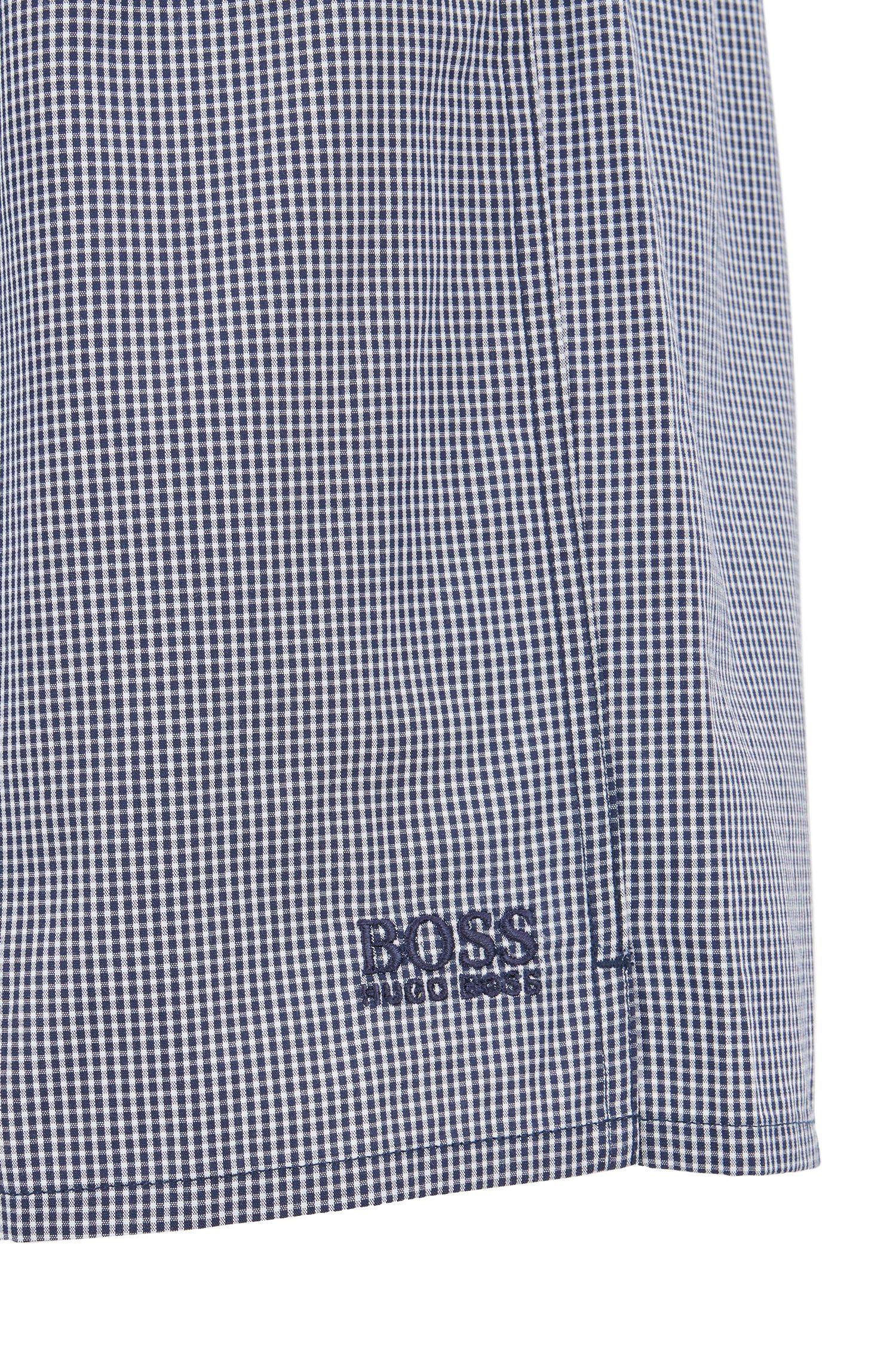 Hugo Boss - Two-pack of pyjama shorts in pure cotton poplin - 2