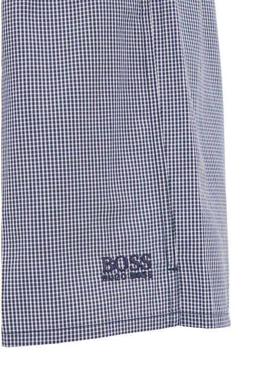 Hugo Boss - Two-pack of pyjama shorts in pure cotton poplin - 2