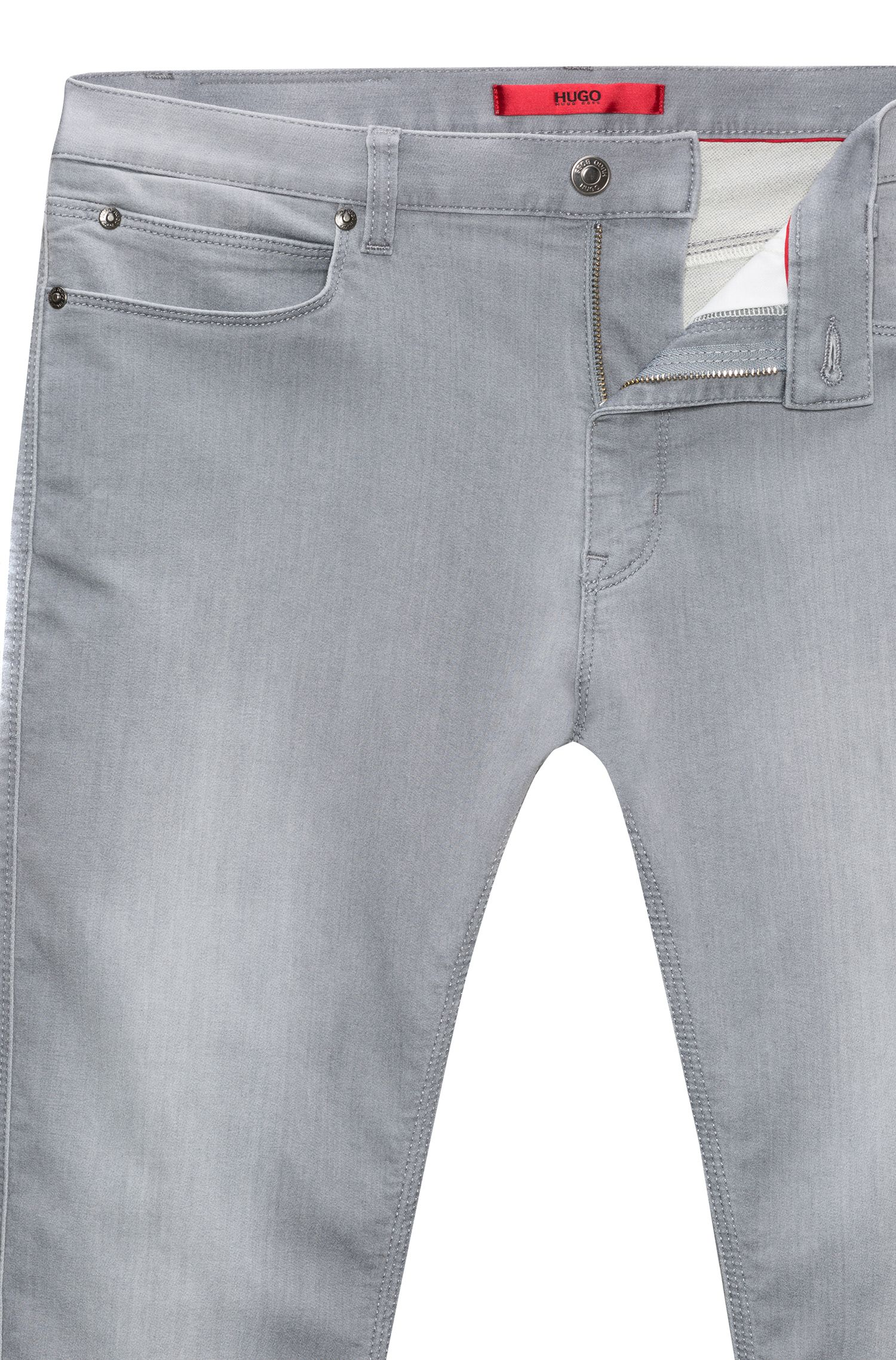 Skinny-fit stretch jeans with a low rise