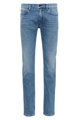 Slim-fit jeans in stretch denim with contrast piping HUGO BOSS nZQD0qCtH