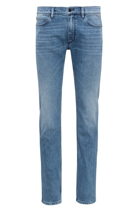 Mid-blue denim jeans in a slim fit HUGO BOSS 2txsfE