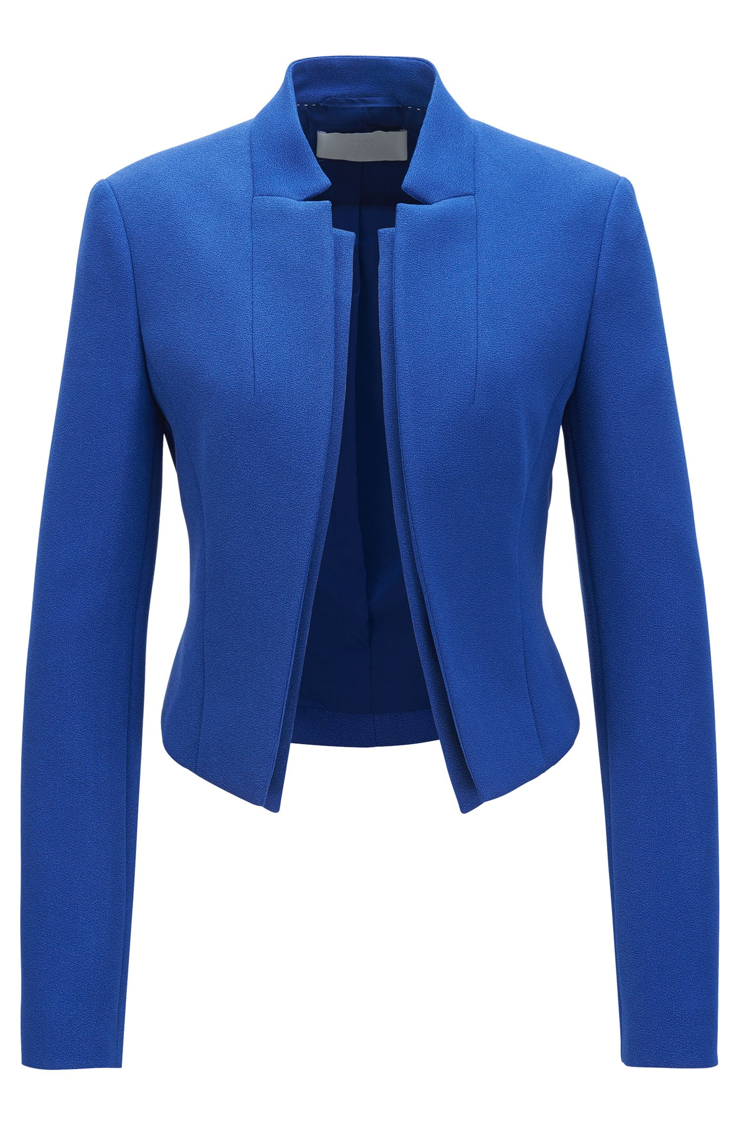 Regular-Fit Blazer aus Krepp mit doppellagigem Revers