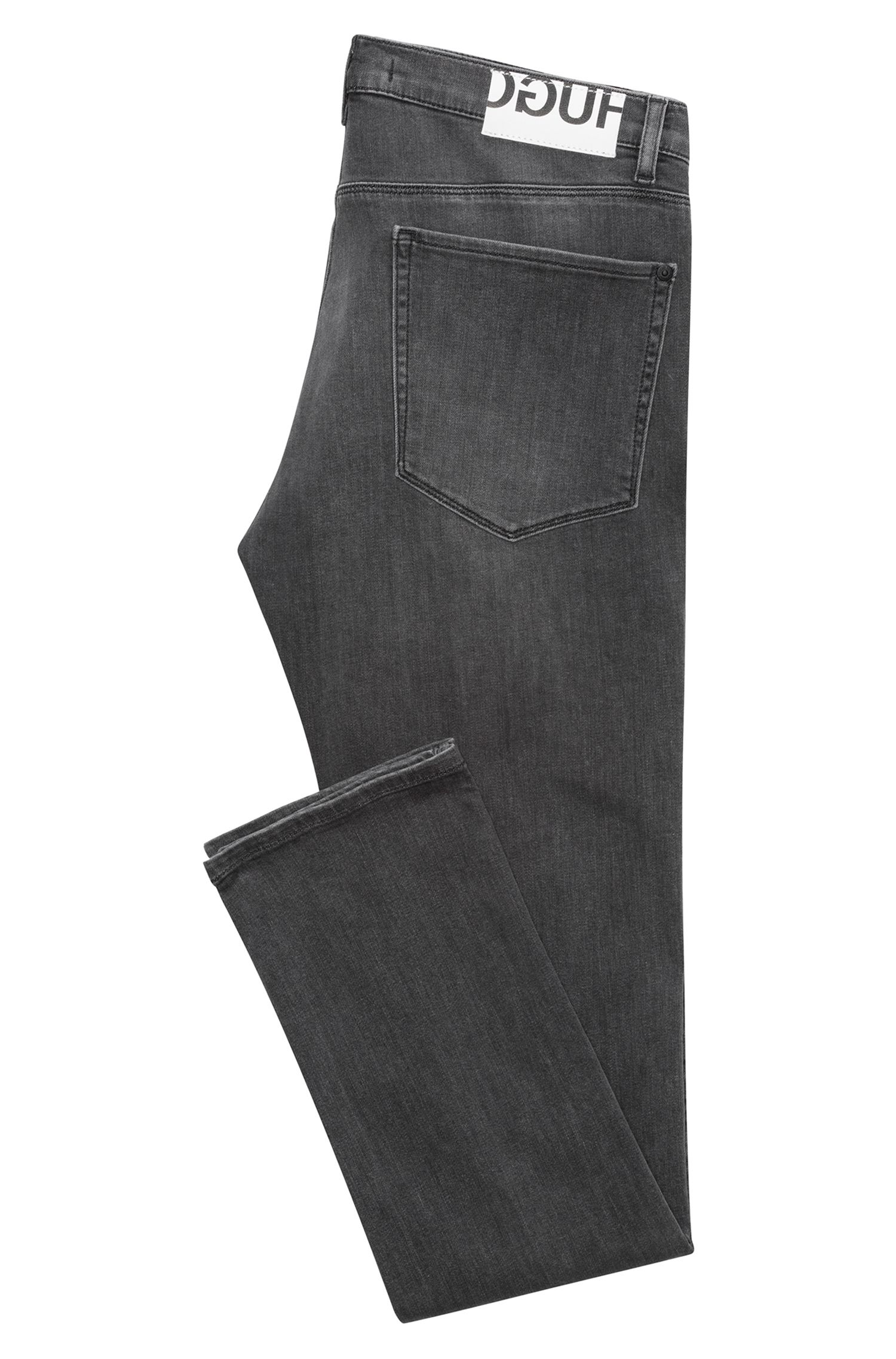 Hugo Boss - Slim-fit jeans in mid-grey stretch denim - 4