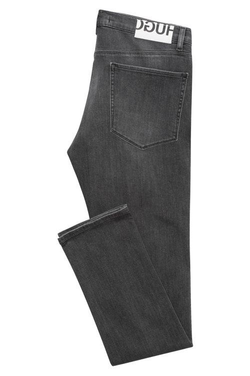 Hugo Boss - Slim-fit jeans in mid-grey stretch denim - 4
