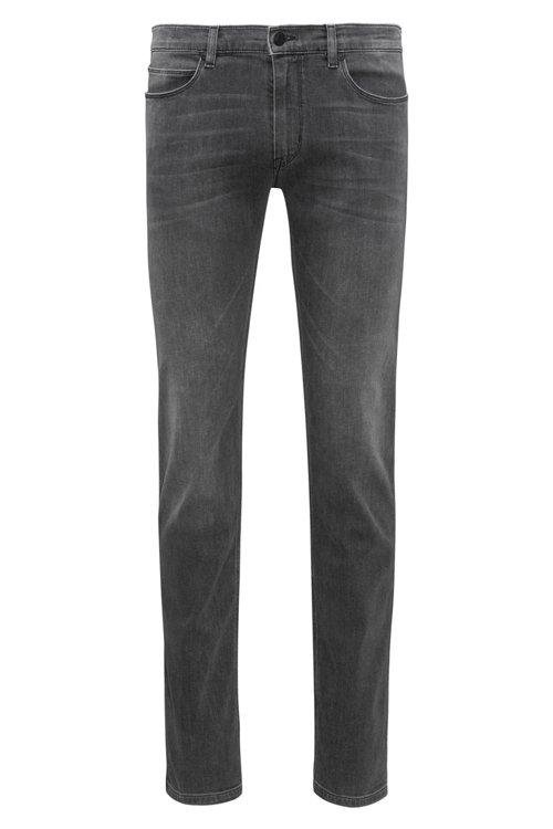 Hugo Boss - Slim-fit jeans in mid-grey stretch denim - 1