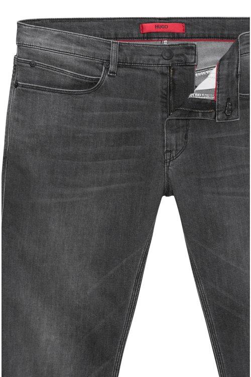 Hugo Boss - Slim-fit jeans in mid-grey stretch denim - 5