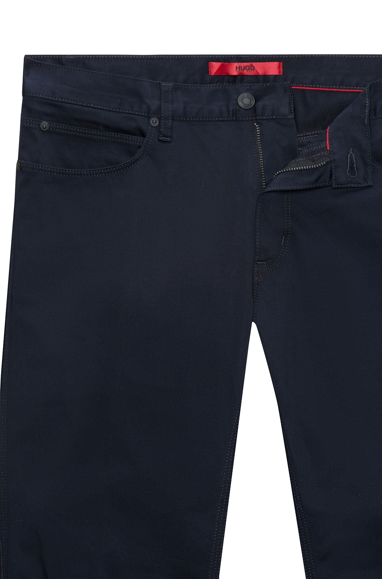 Hugo Boss - Slim-fit jeans in stretch denim with contrast piping - 5
