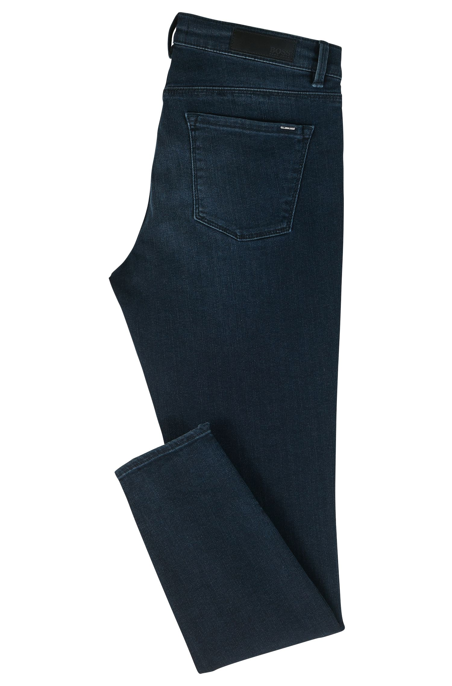 Slim-fit superstretch denim jeans met ritsen aan de zomen