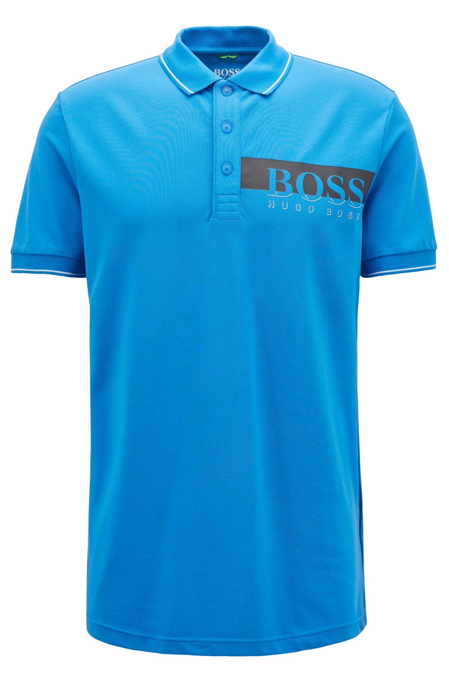 Hugo Boss - Slim-fit polo shirt with moisture-management - 1