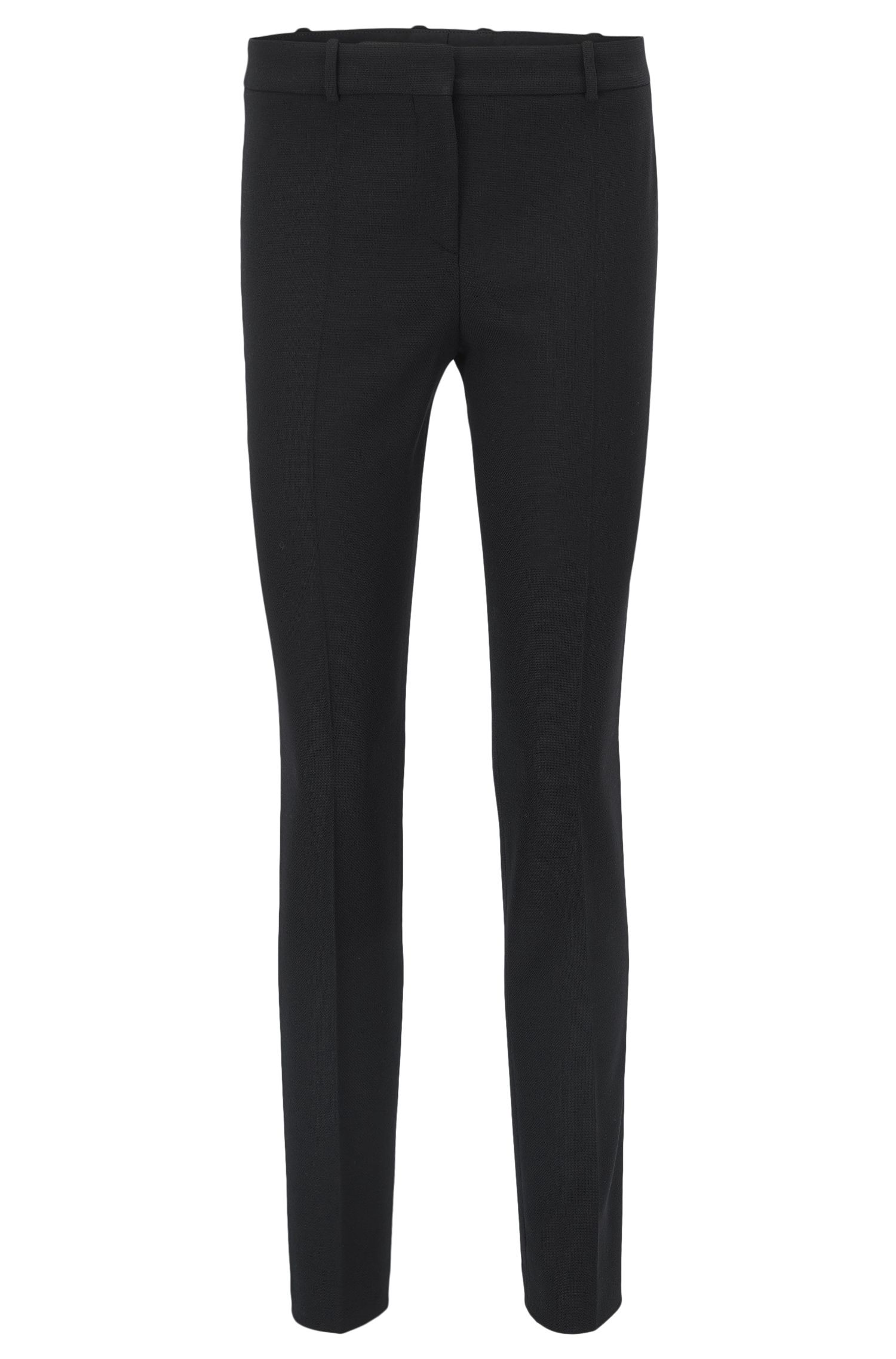 Slim-fit trousers in stretch virgin wool
