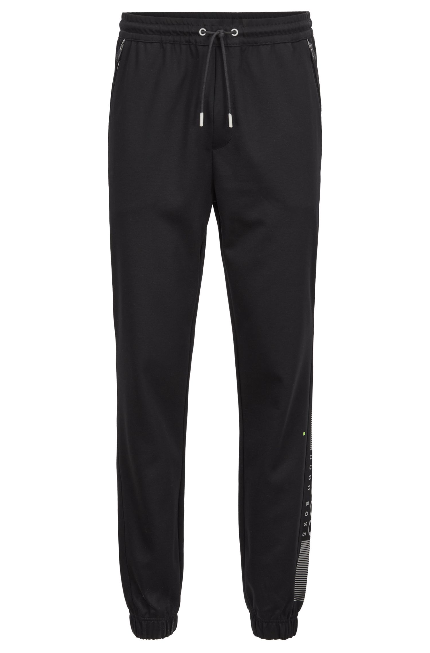 Slim-fit jersey trousers with functional details