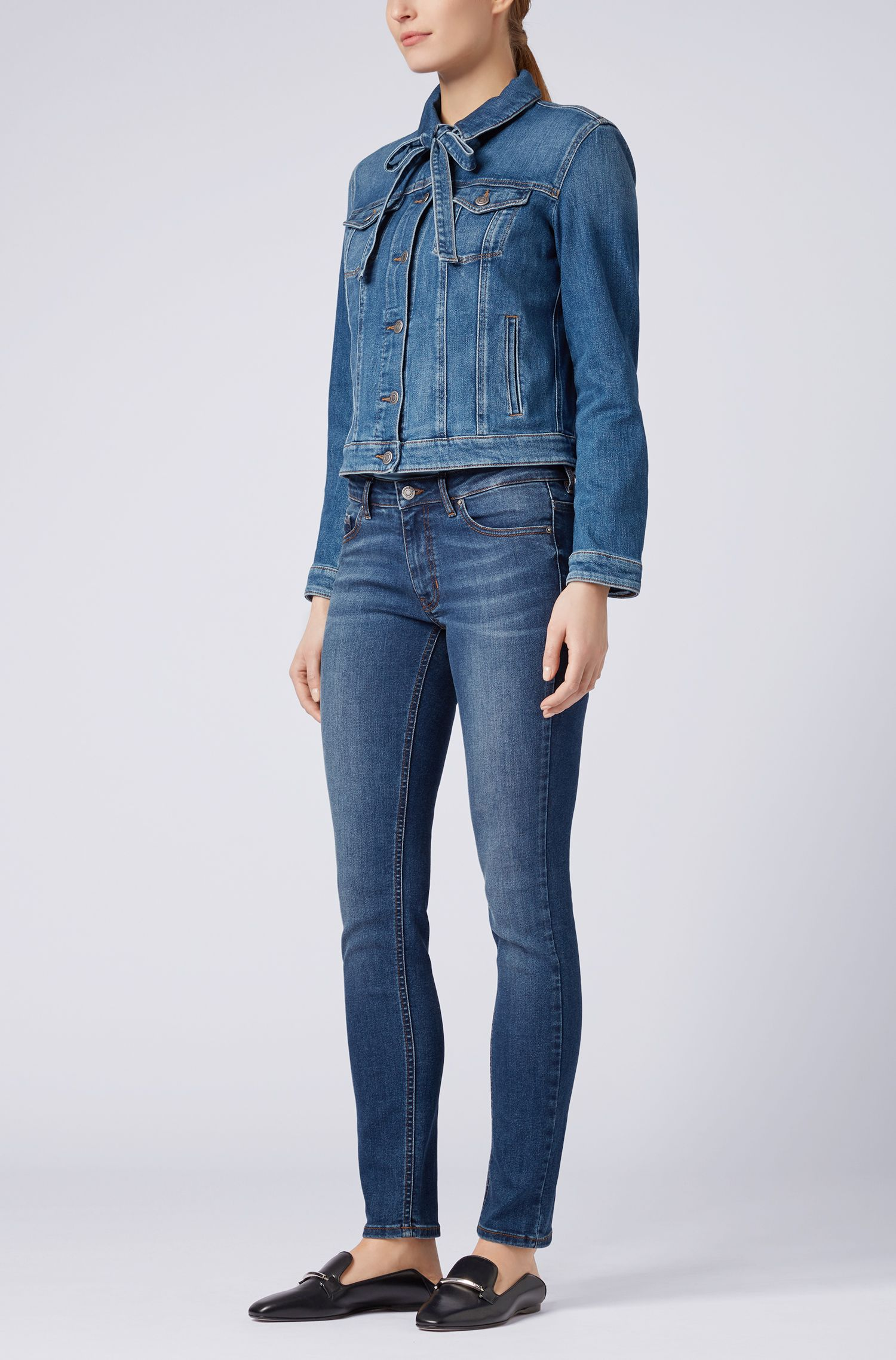 Slim-Fit Jeans aus Super-Stretch-Denim im Used-Look