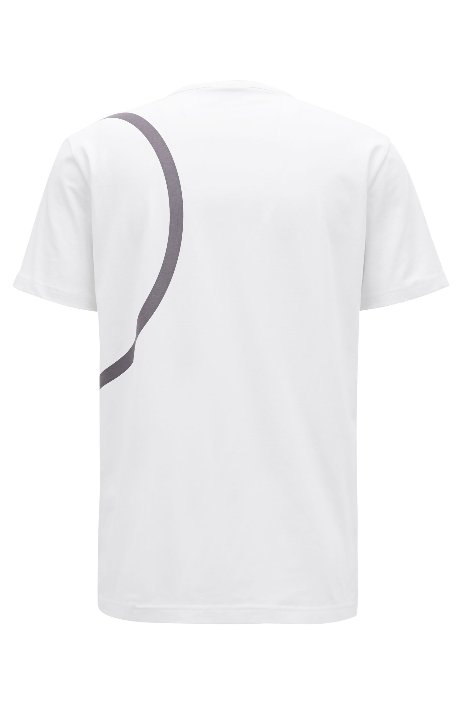 Stretch-cotton jersey T-shirt with placement print