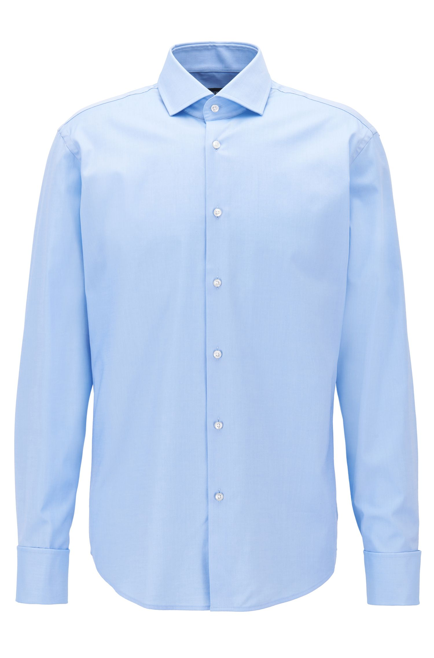 Cotton-twill shirt in a regular fit