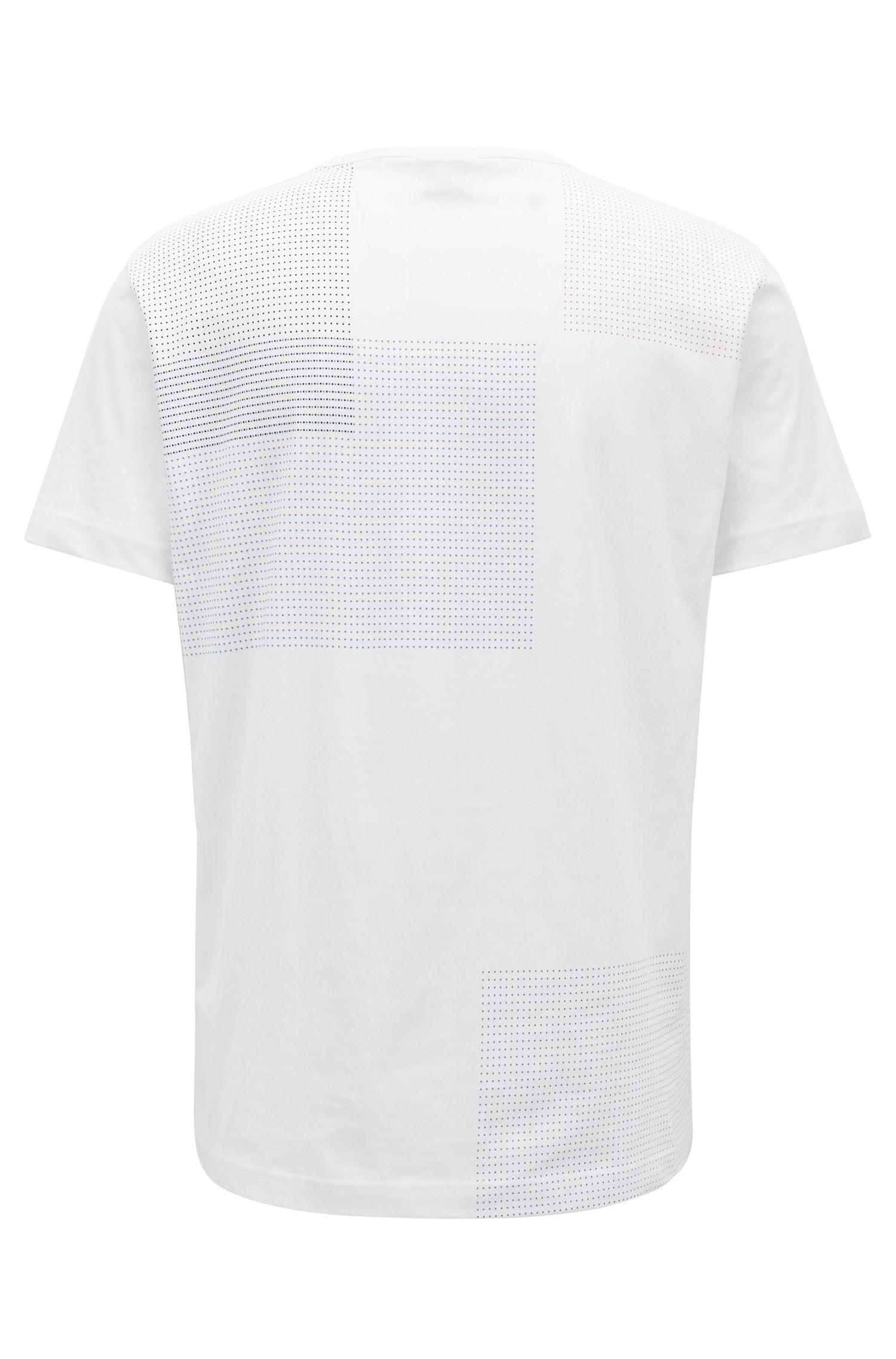 Bedrucktes T-Shirt aus Single Jersey mit Logo, Weiß