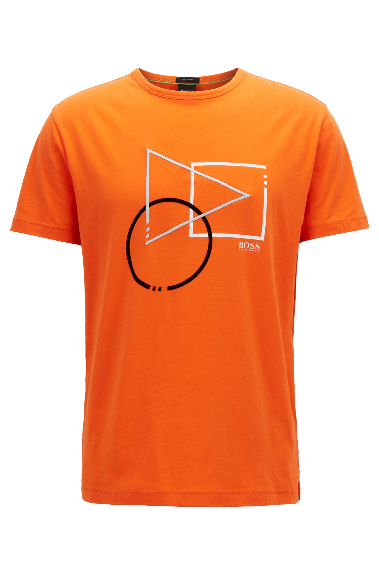 Short-sleeved graphic T-shirt in pure cotton