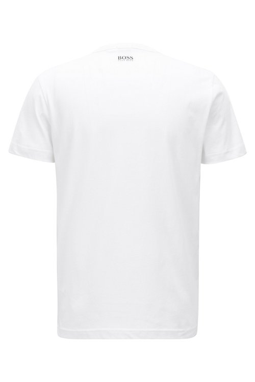 Hugo Boss - Short-sleeved printed T-shirt in single-jersey cotton - 3