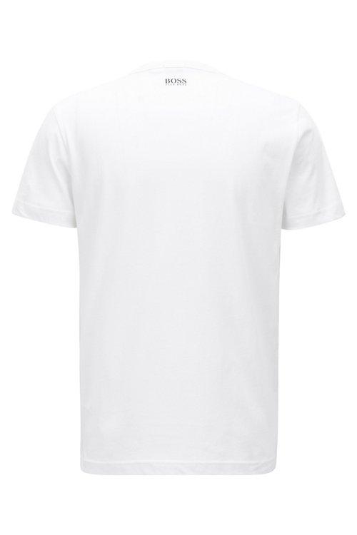 Hugo Boss - T-shirt imprimé à manches courtes en jersey simple de coton - 3