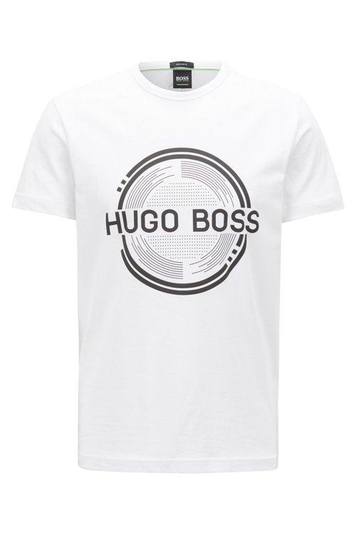 Hugo Boss - T-shirt imprimé à manches courtes en jersey simple de coton - 1