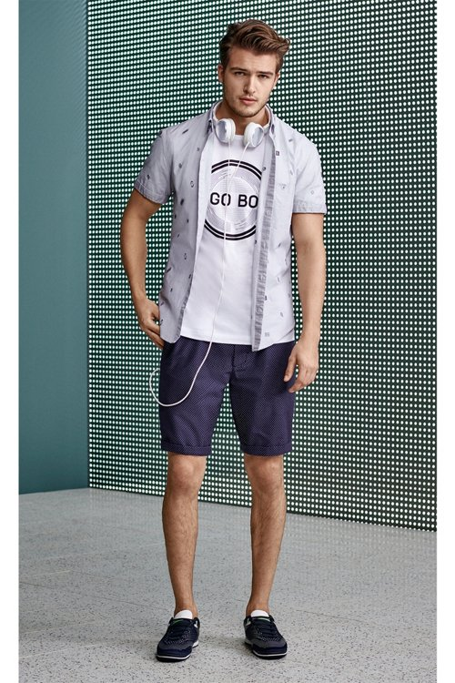Hugo Boss - Short-sleeved printed T-shirt in single-jersey cotton - 4