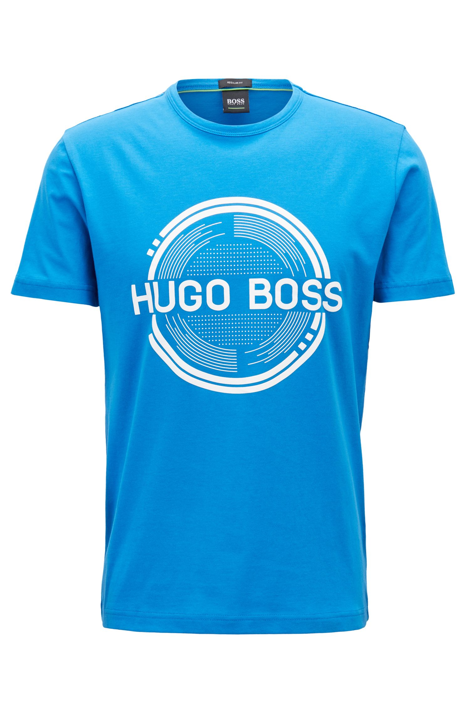 Hugo Boss - Short-sleeved printed T-shirt in single-jersey cotton - 1