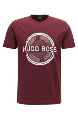 HUGO BOSS T-shirt à motif inspiré du Bauhaus, en jacquard de coton mercerisé