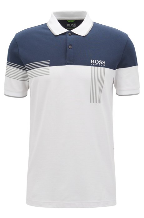 afd9c534 Regular-fit polo shirt in cotton-blend piqué, White