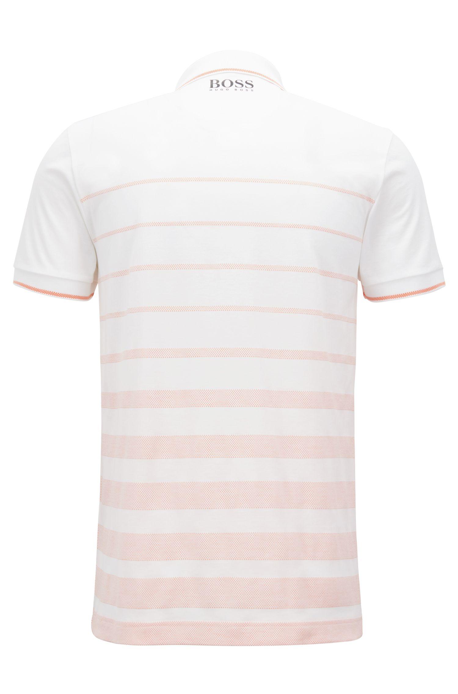 Poloshirt aus feuchtigkeitsregulierendem Baumwoll-Jacquard, Orange