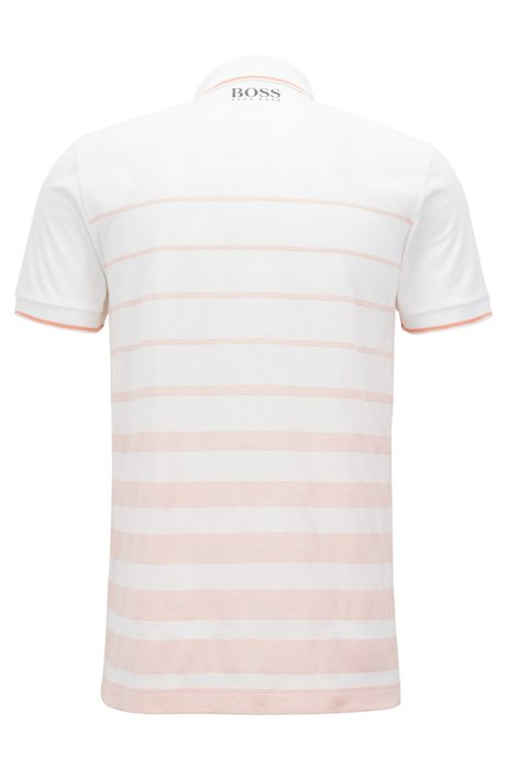 Cotton jacquard polo shirt with moisture management BOSS Shop For Sale Online Footlocker Pictures For Sale Best Selling I3Vy0