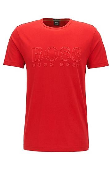 男款休闲logo短袖T恤,  610_中红色