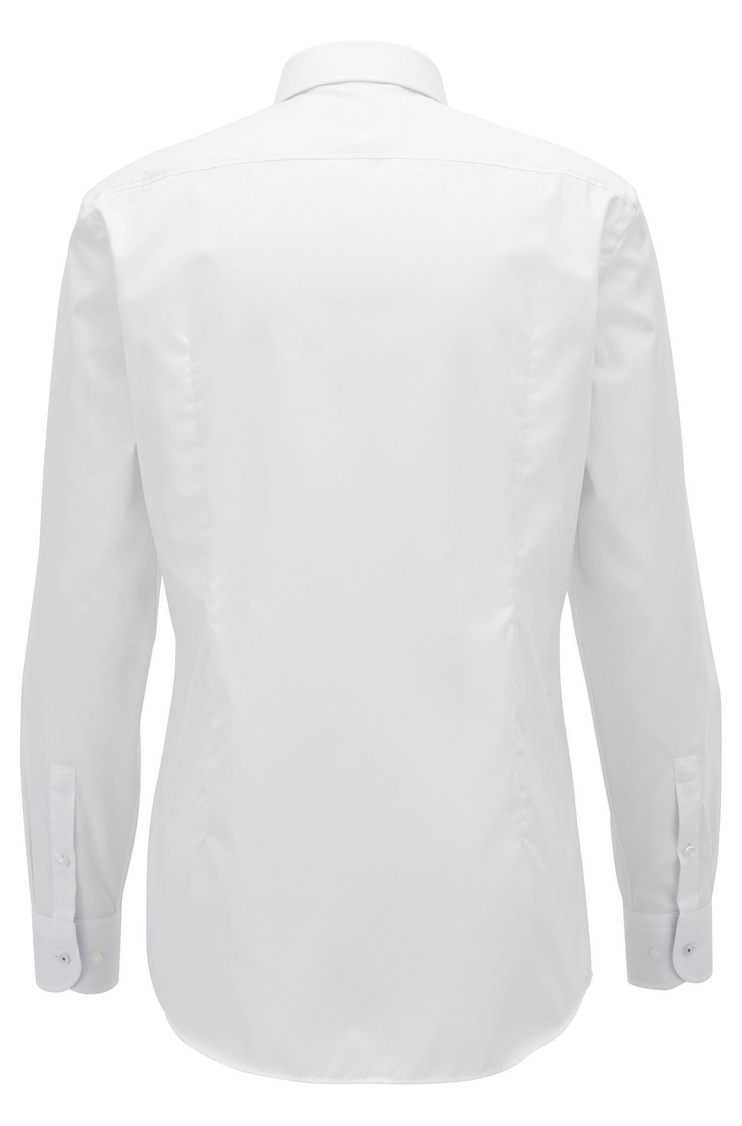 Camisa slim fit en algodón de planchado fácil