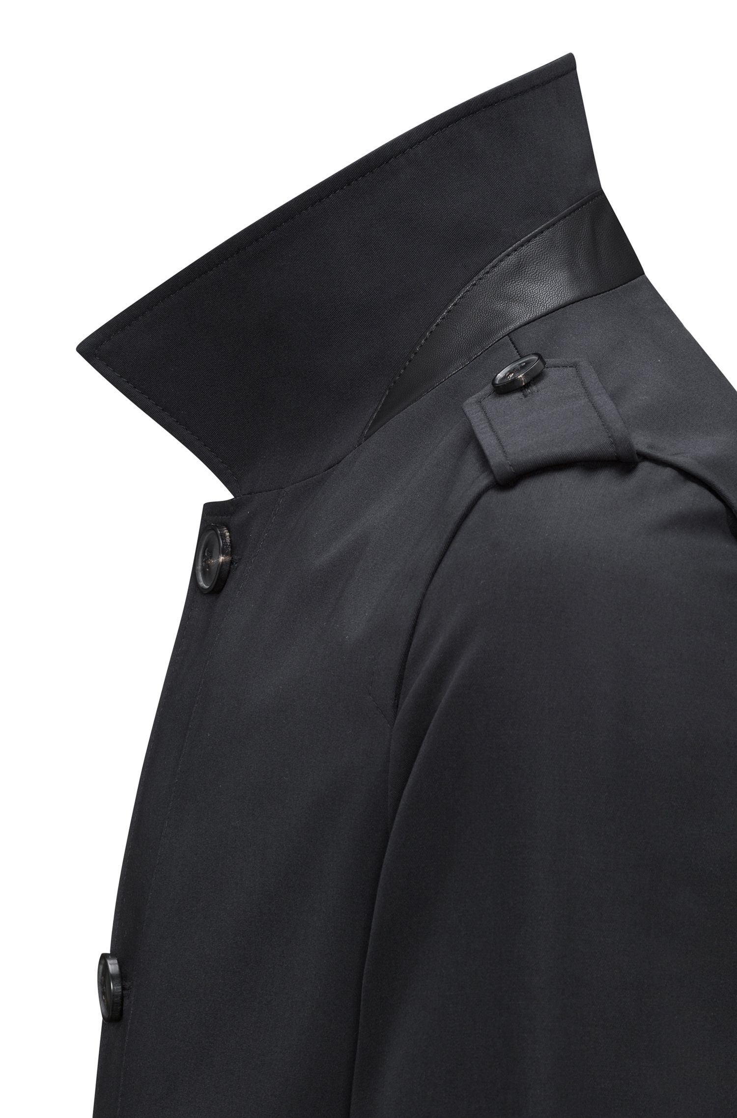 Water-repellent belted coat in a slim fit