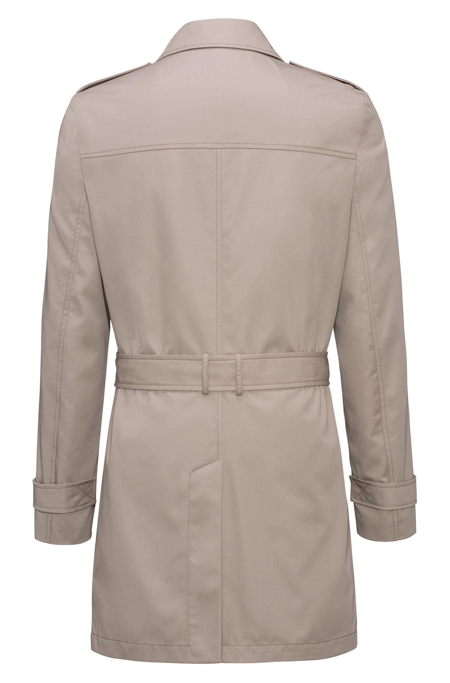 Trench-coat Slim Fit en tissu imperméable
