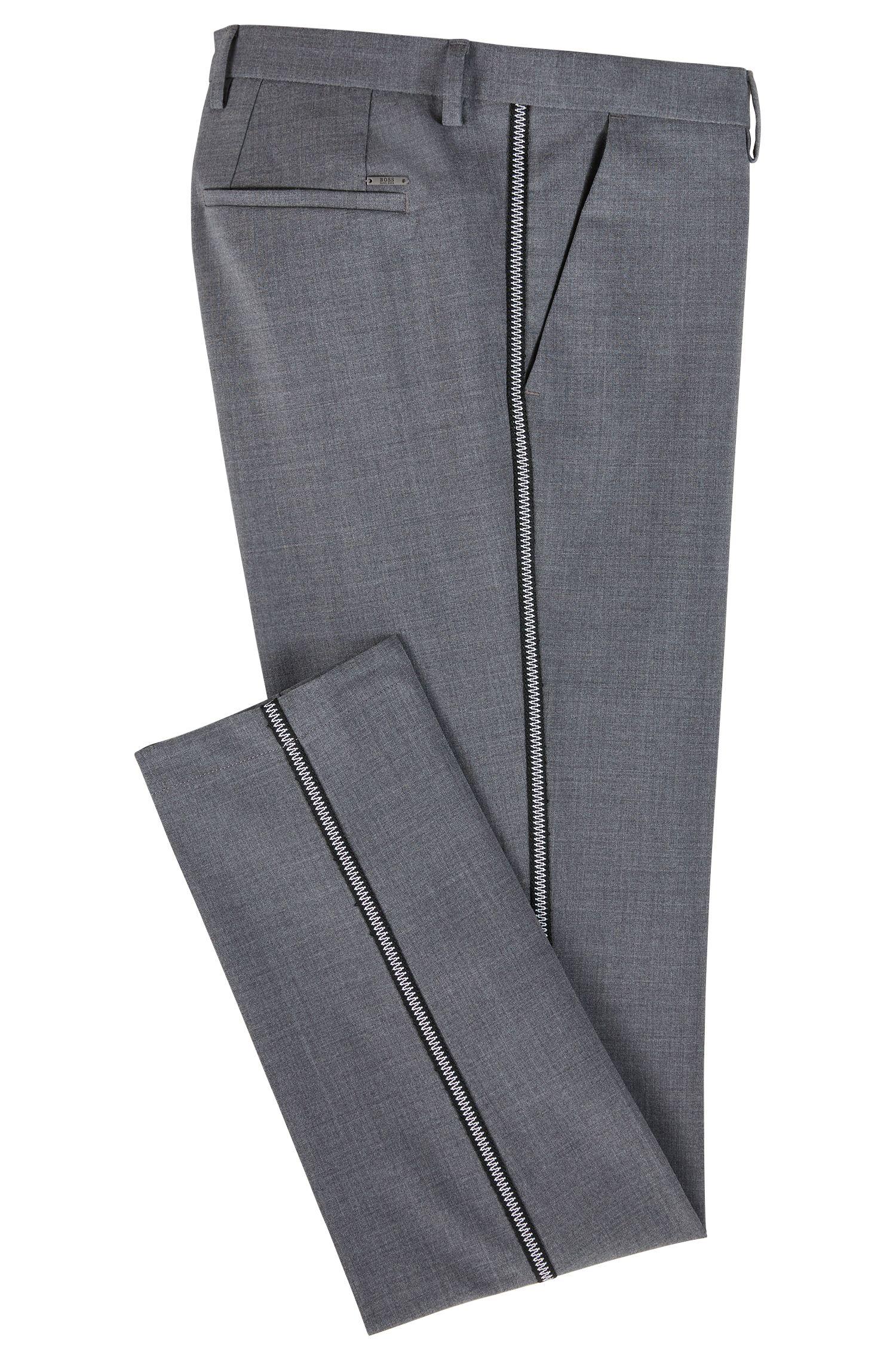 Hugo Boss - Slim-fit chinos in mercerised stretch fabric - 3